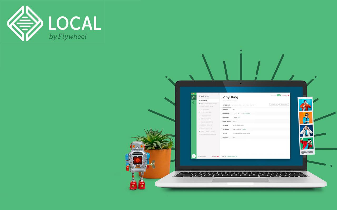 Mit local by flywheel kannst du deine wordpress seiten lokal bearbeiten und live teilen.